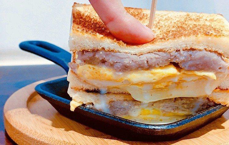高人氣「芋頭煉乳三明治」口感扎實香氣濃郁。圖/聯合報系資料照片