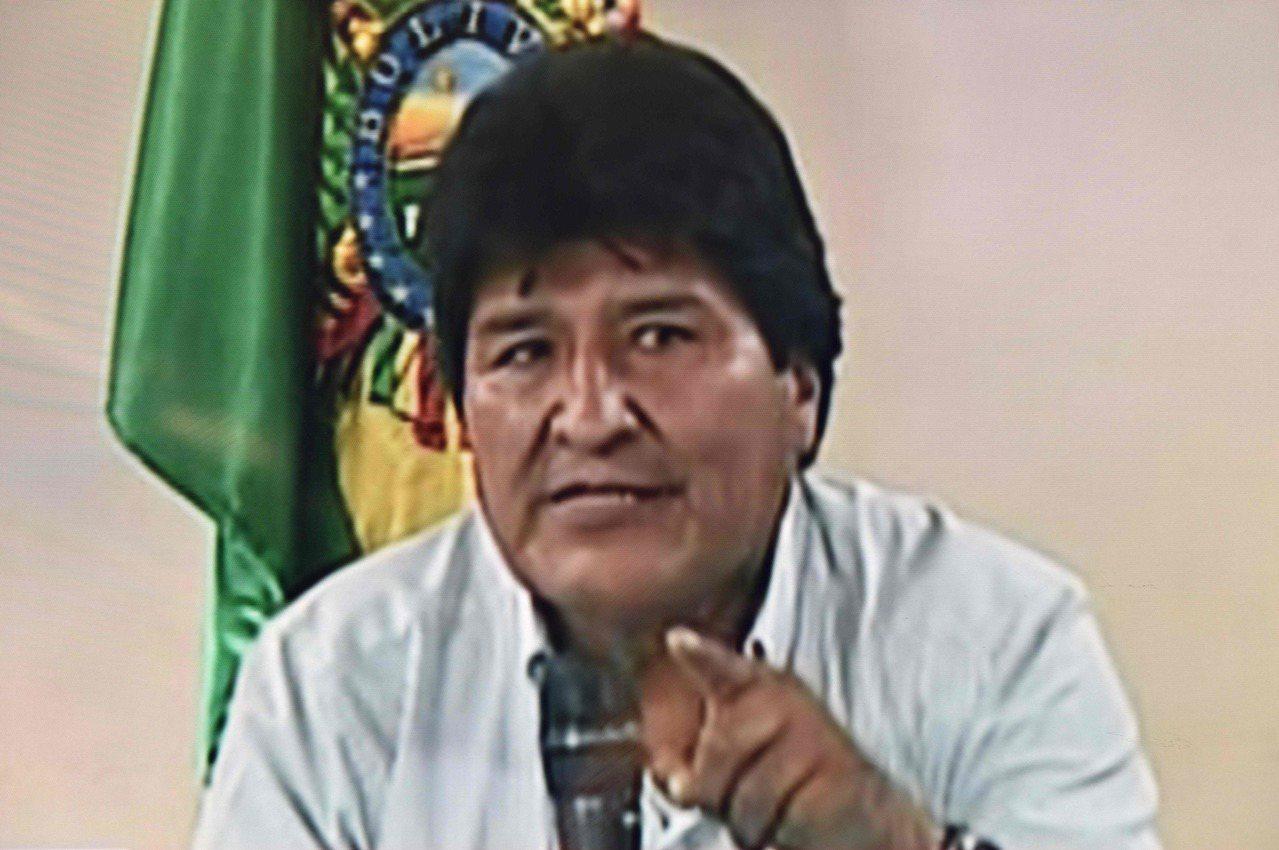 玻利維亞總統莫拉萊斯10日在電視談話中宣布辭職。(法新社)
