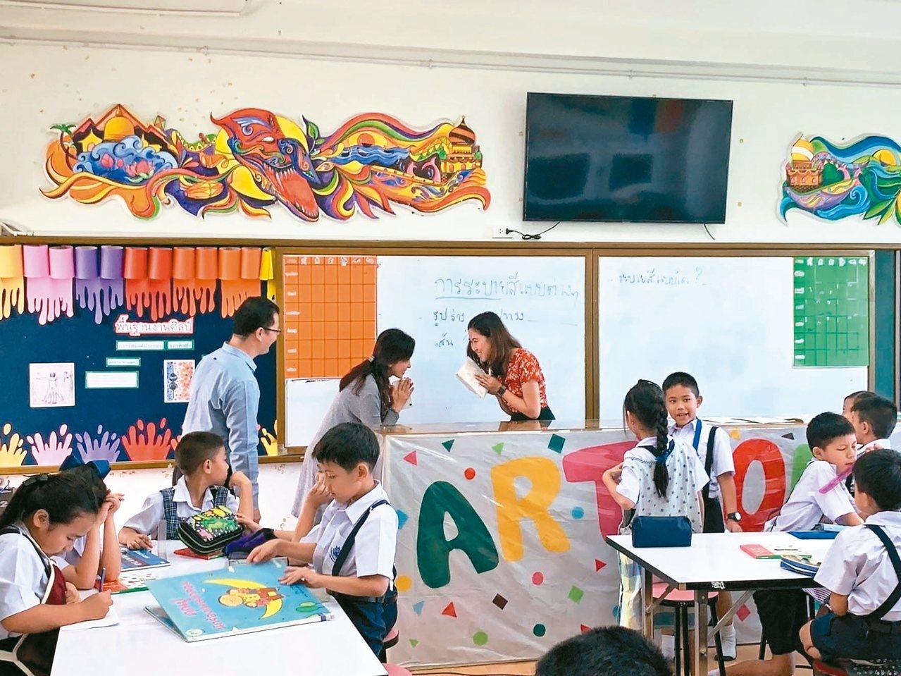美感教育工作教師到國外參訪。 圖/教育部提供
