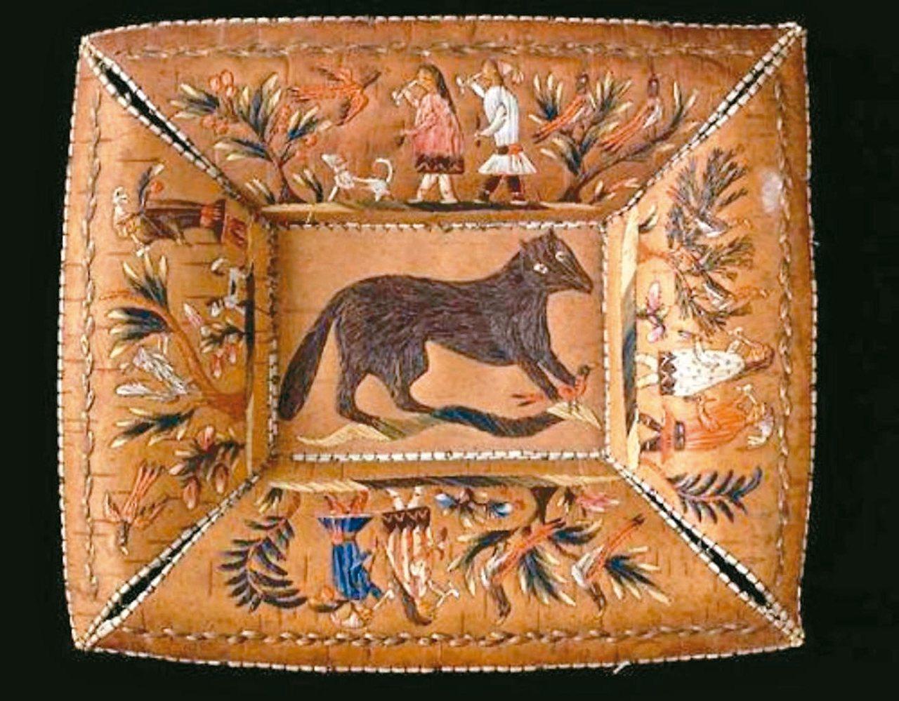 樺樹皮製作的工藝品。 (百度)