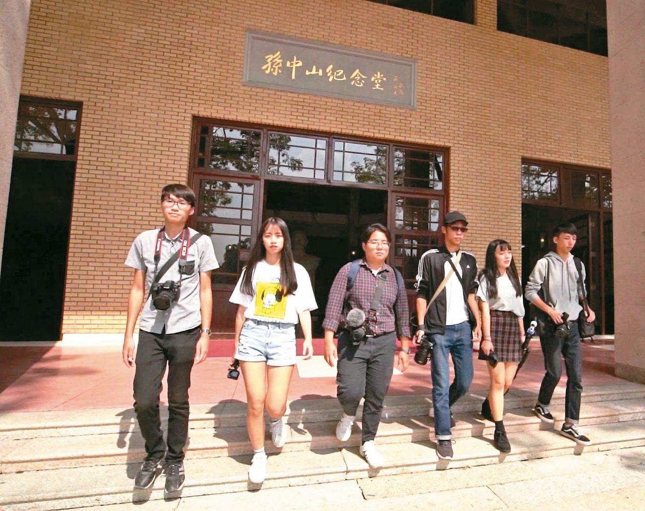 銘傳大學師生到廣東省中山市進行航拍交流創作。 圖/本報中山傳真