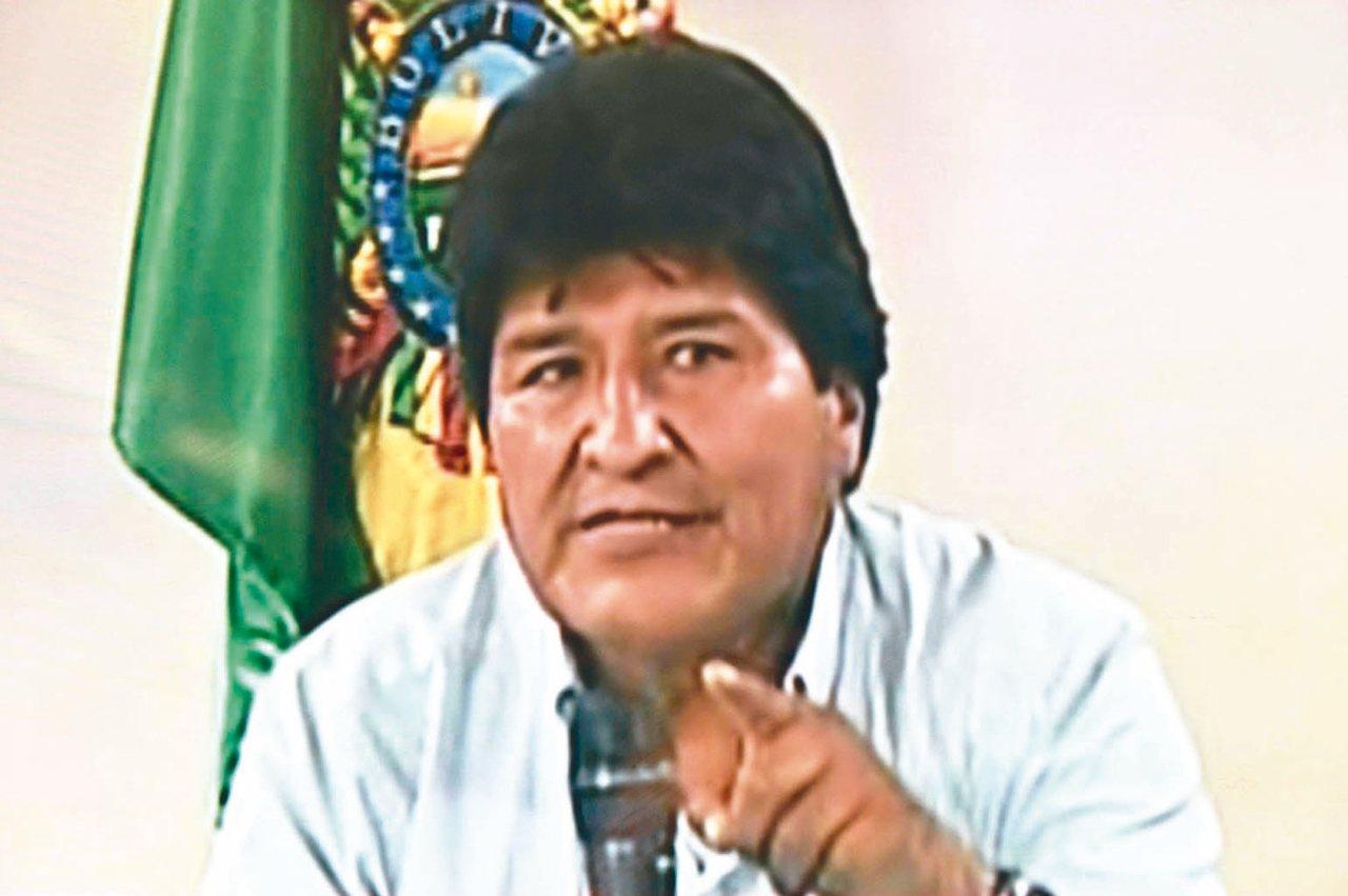 玻利維亞總統莫拉萊斯九日在電視談話中宣布辭職。(法新社)