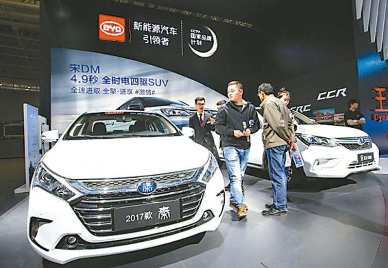 比亞迪新能源汽車(新華社)