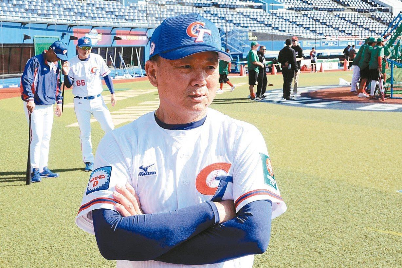 中華隊總教練洪一中。 特派記者蘇志畬/攝影