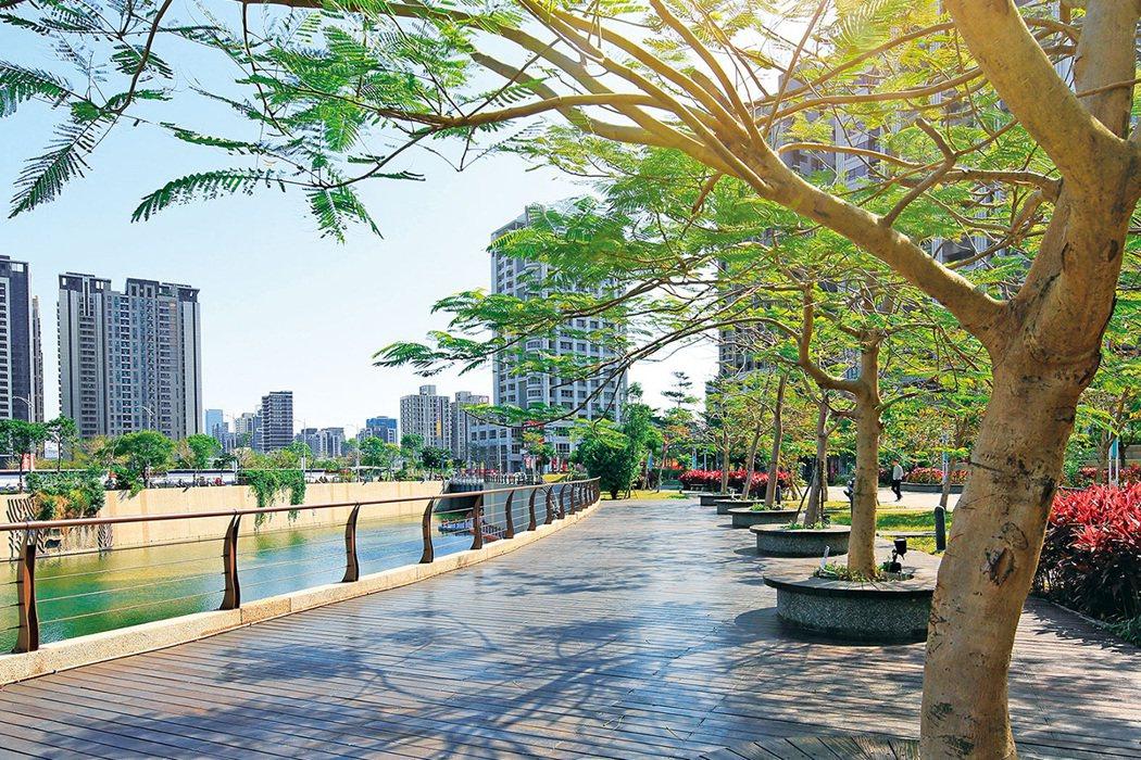 副都心規劃低建蔽率、高綠覆率,附近多公園學校,環境舒適宜居。 圖/麗寶快樂星球 ...