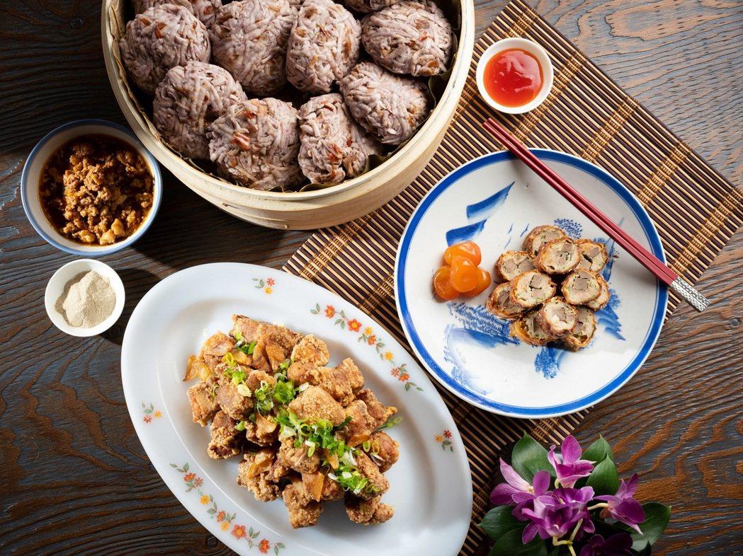 台北君悅-凱菲屋台灣美食節 -肉燥芋丸 古味酥炸排骨酥 手工自製肝花。