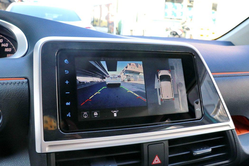 PVM環景影像輔助系統。 記者陳威任/攝影