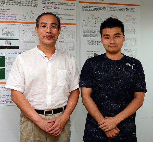 圖三 : 台大資工所副教授廖世偉博士(左)與時光寶盒的共同開發者楊昌儒(右)。(...