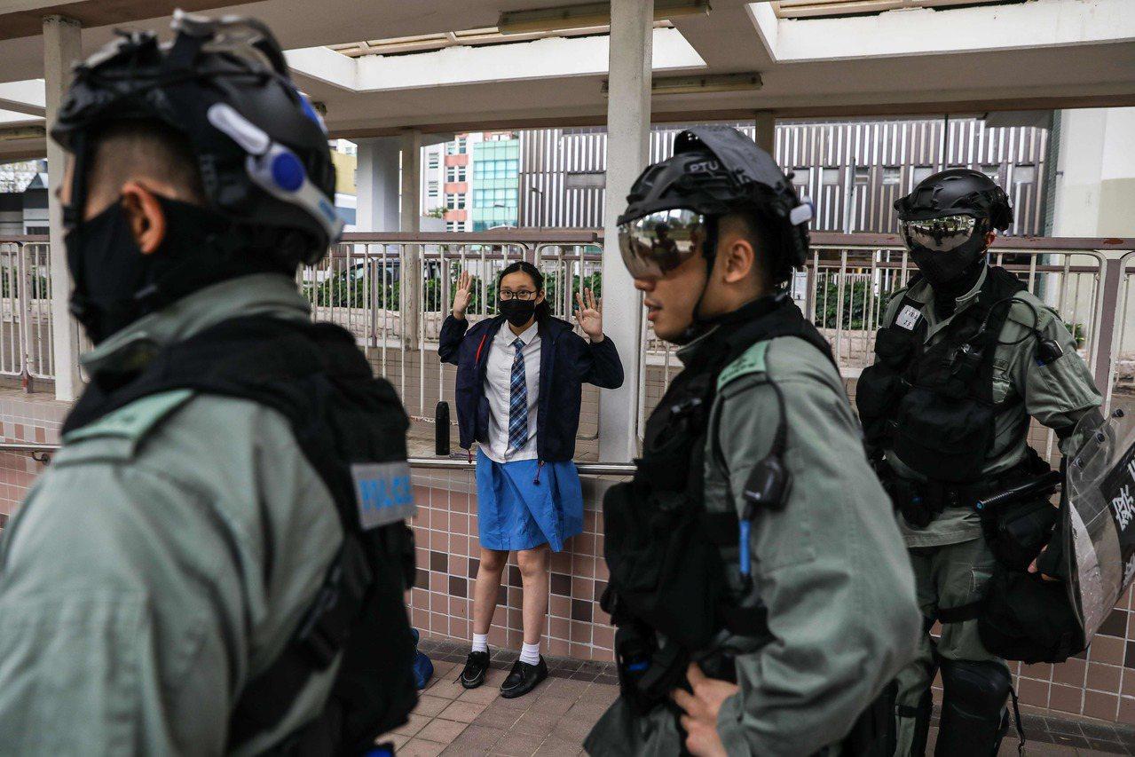 香港「反送中」示威持續升級。法新社