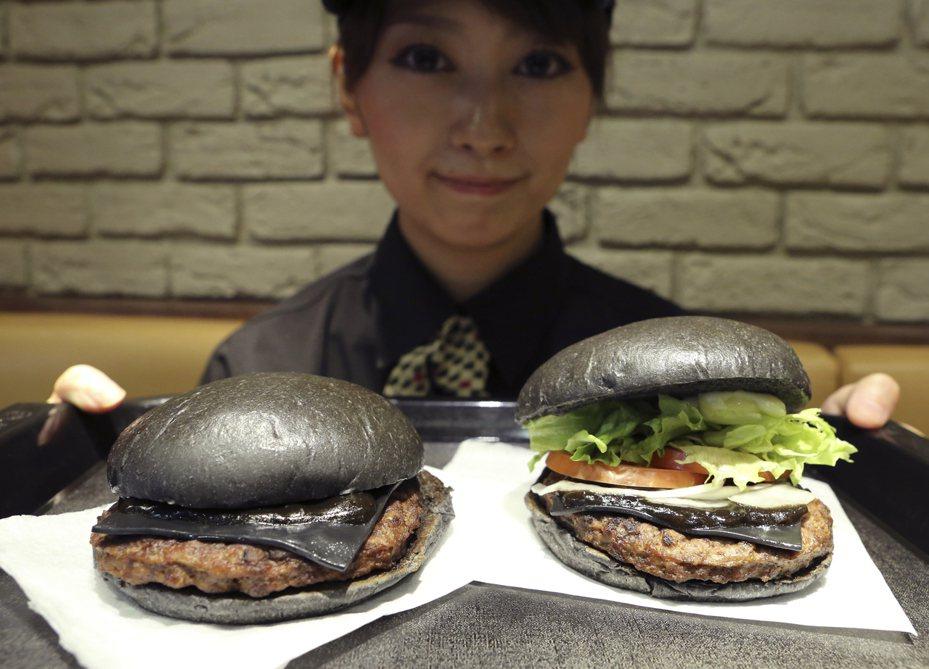 黑色漢堡。美聯社