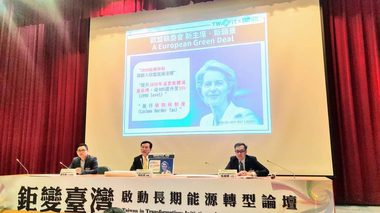 台大風險社會與政策研究中心今天發表《鉅變臺灣:啟動長期能源轉型》報告給予我國能源...