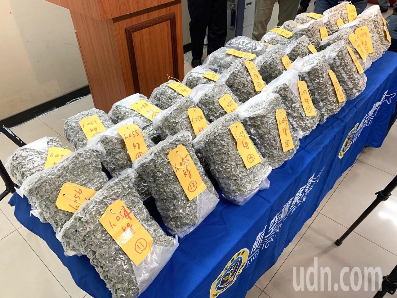 加拿大籍男子涉嫌夾帶價值億元的大麻花,從多倫多搭乘直飛桃園機場的班機企圖闖關,當...