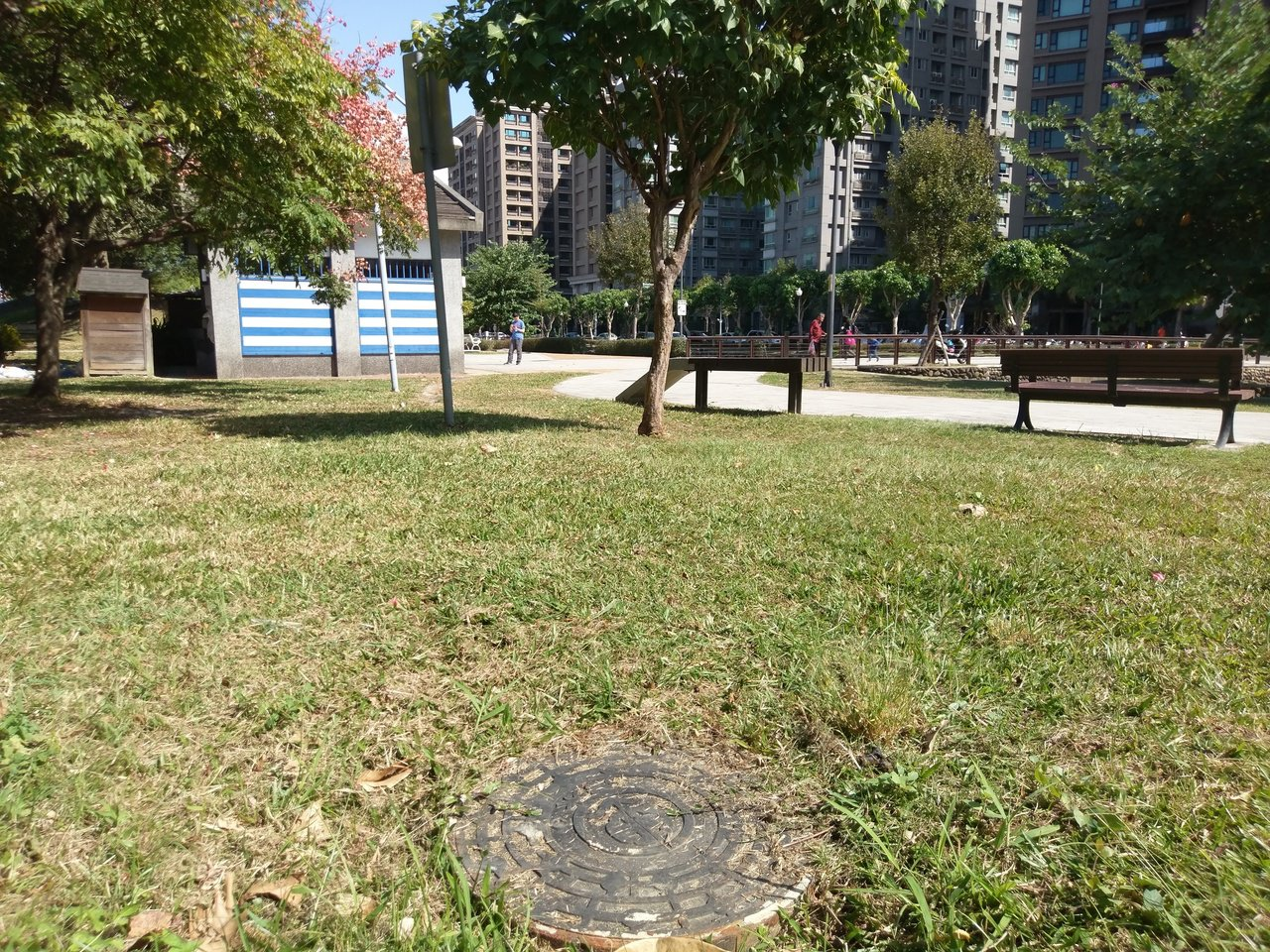 新北市水利局進行公園公廁汙水接管工程,圖為三重自然公園。圖/新北市水利局提供