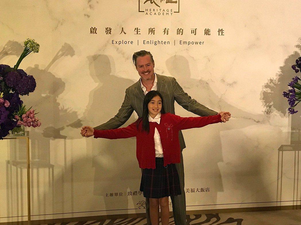 夏克立和夏天父女感情好。記者李姿瑩/攝影