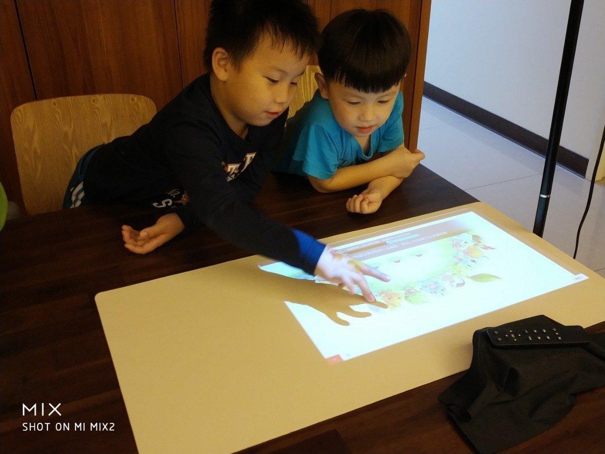 父母可透用智能投影,將家中書桌轉變為大型平板螢幕,增進孩童學習效果,更可避免一般...