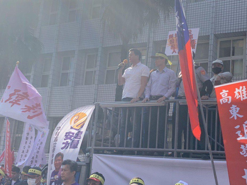 周錫瑋:太陽花判警察要國賠是最錯誤判決。記者王聖藜/攝影