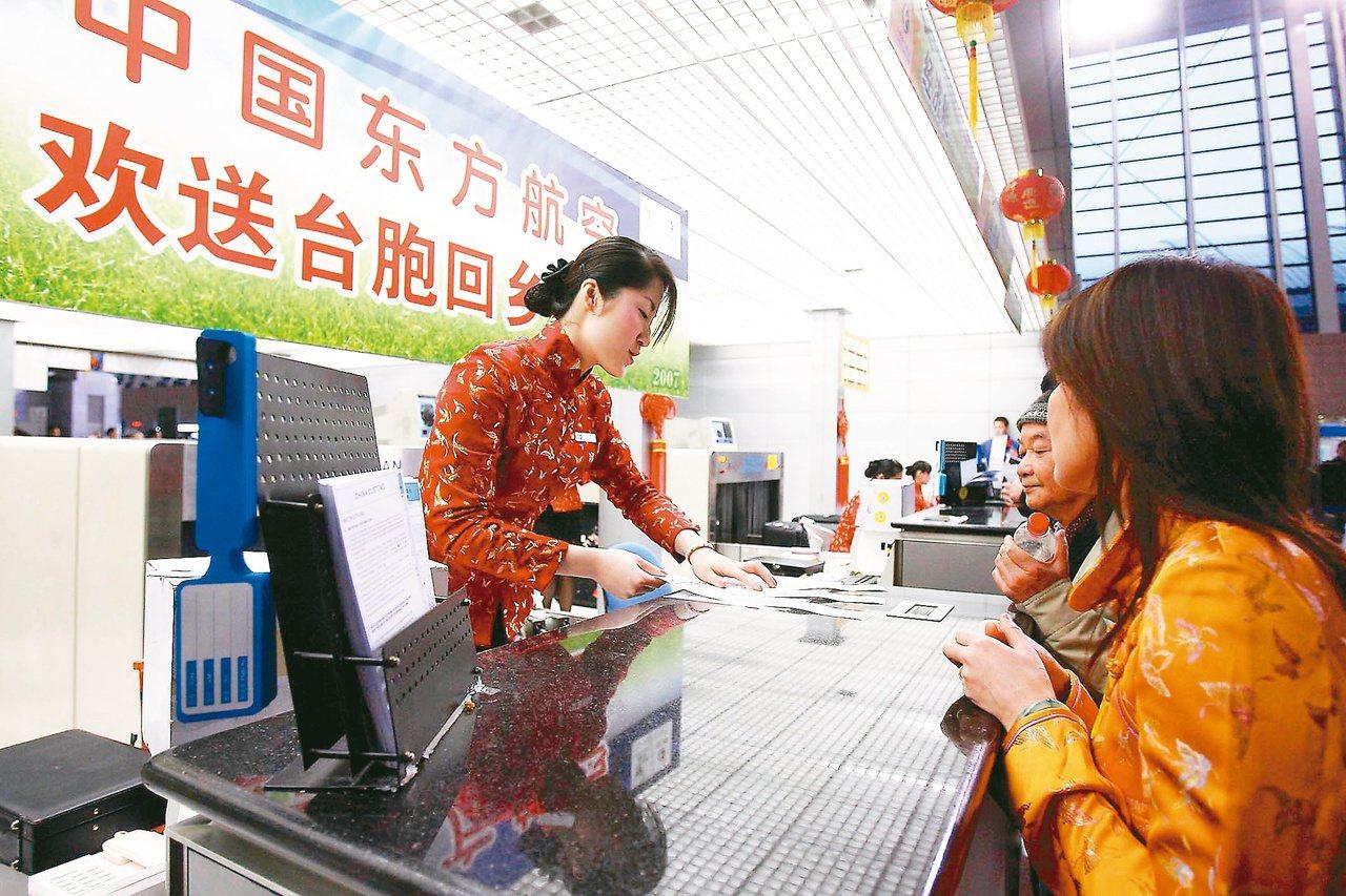 《中國台灣網》稱,有大陸網友在論壇發起投票:「為了讓台胞順利返鄉過年,你是否支持...