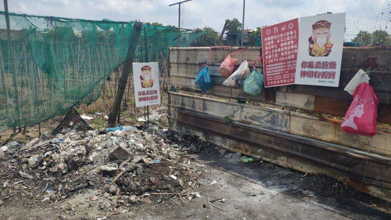 雲林縣西螺鎮街道經常見到民眾隨意棄置垃圾,嚴重影響鎮容。圖/本報資料照片
