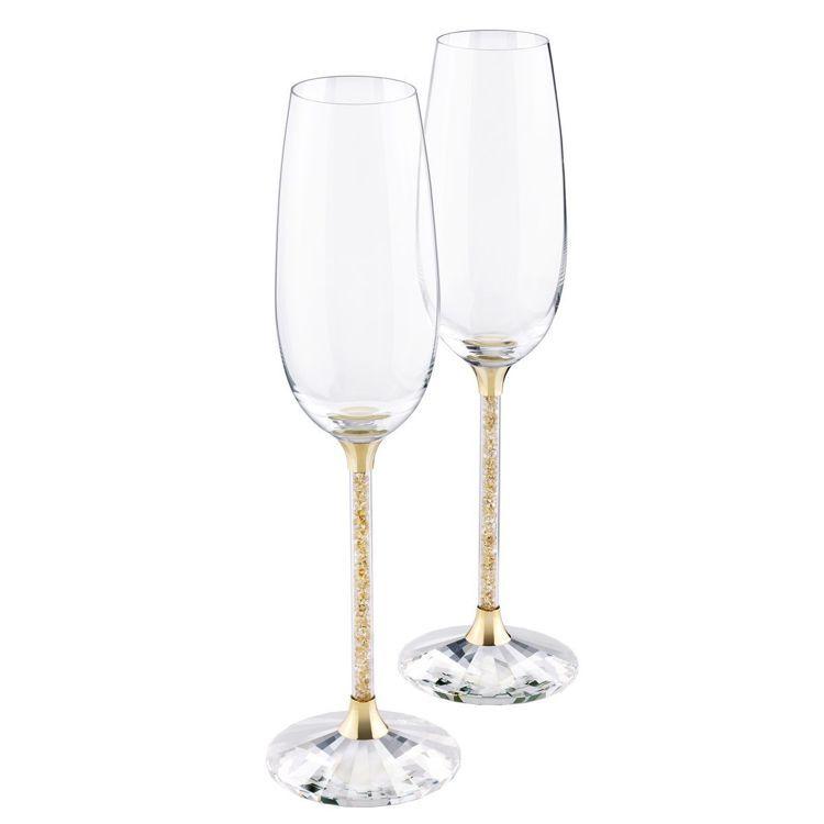 施華洛世奇 CRYSTALLINE金色祝酒杯(一對)/13,200元。圖/施華洛...