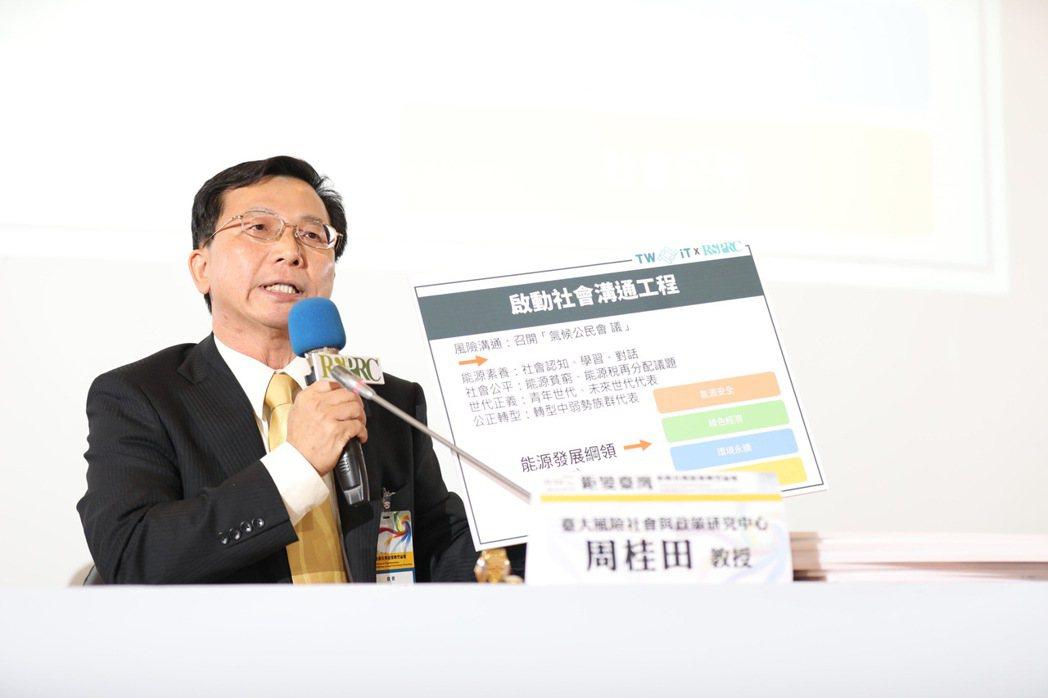 周桂田認為,政府除了應成立專責、獨立推動能源轉型委員會,也應該召開召開氣候公民會...