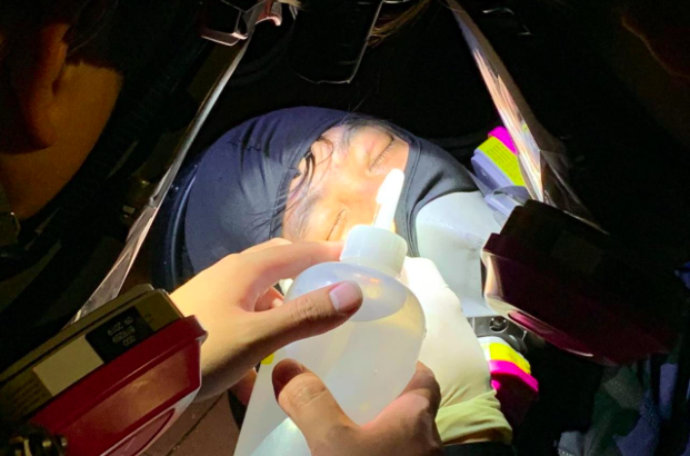 香港中大多人被警方的催淚彈和橡膠子彈擊傷,有人眼部、胸口、腳受傷。圖/取自香港電...