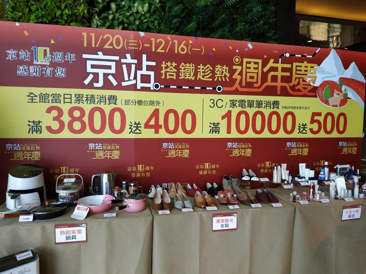 京站周年慶將於11月20日登場,祭出最高21%的回饋率,全館消費滿3800元就送...
