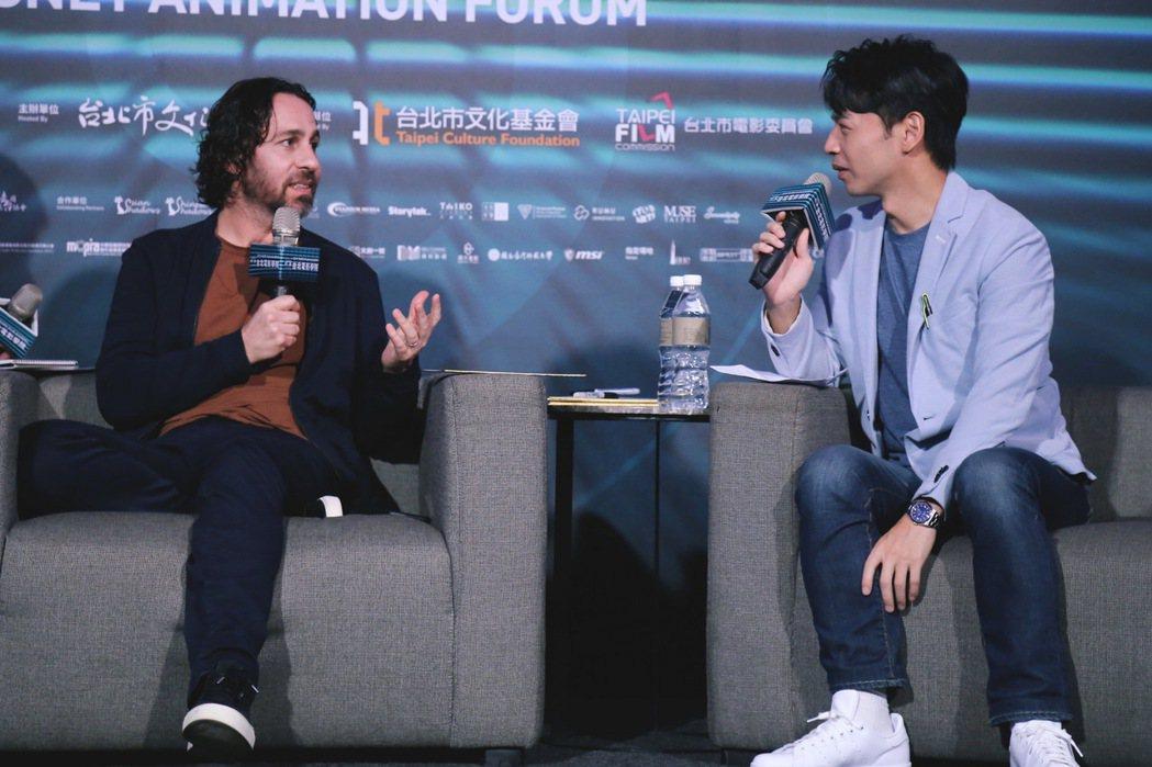 馬可表示作品要有自己的獨特觀點,才有可能成為迪士尼的人。台北電影學院/提供