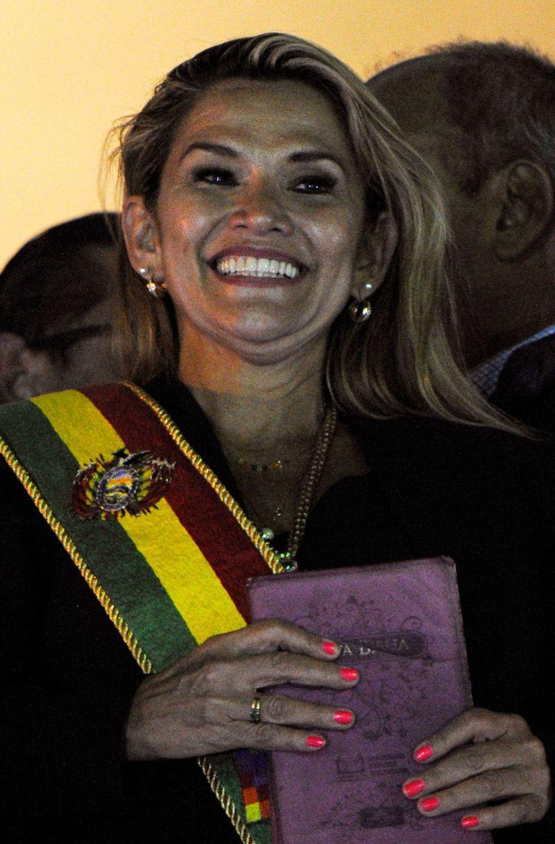 玻利維亞在野黨籍國會參議院副議長艾尼茲。法新社