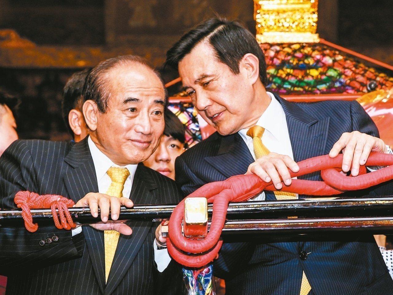 王金平(左)與前總統馬英九。 圖/聯合報系資料照片
