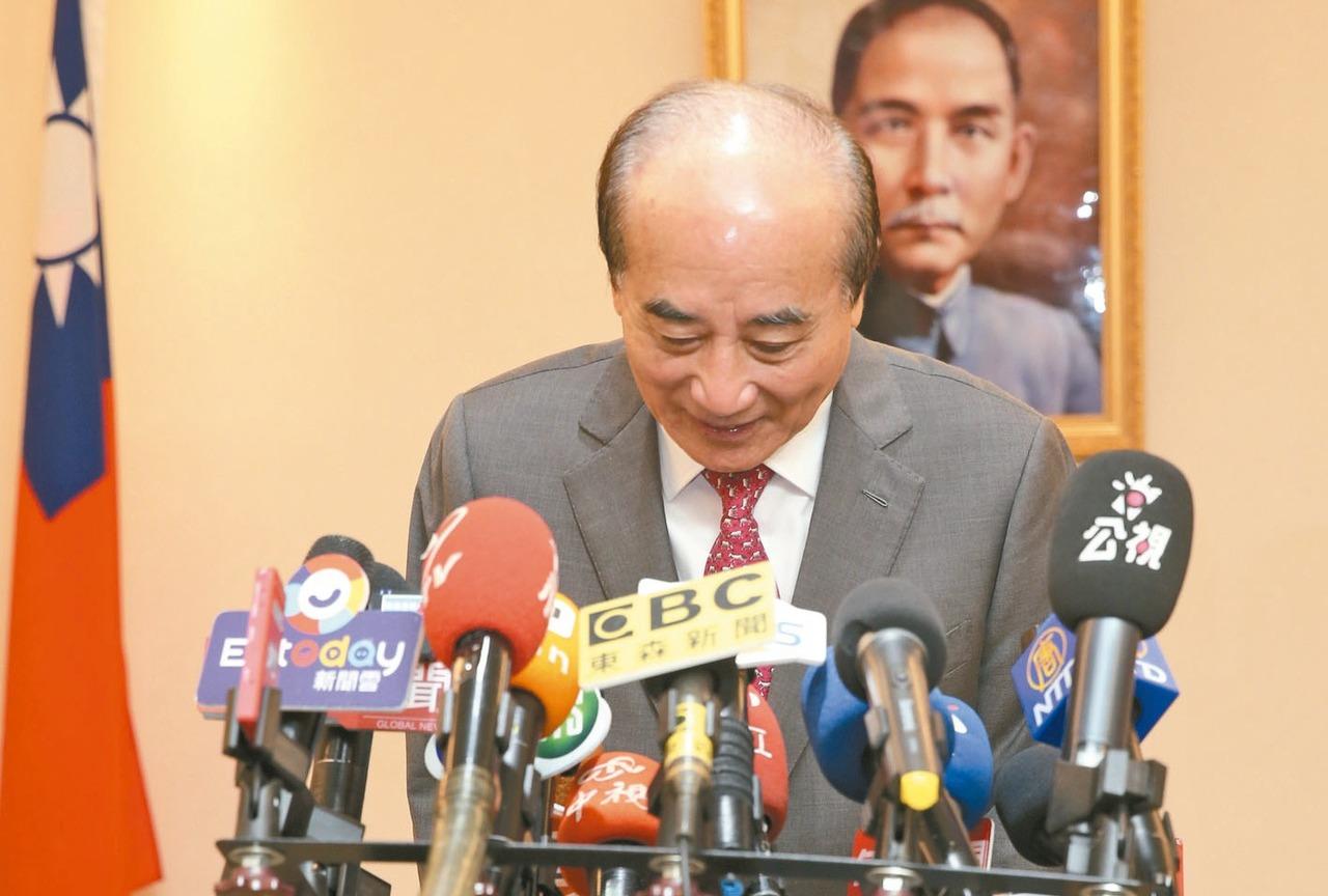 國民黨立委、立法院前院長王金平昨舉行記者會,遺憾表示在參選總統路上,沒取得最後機...