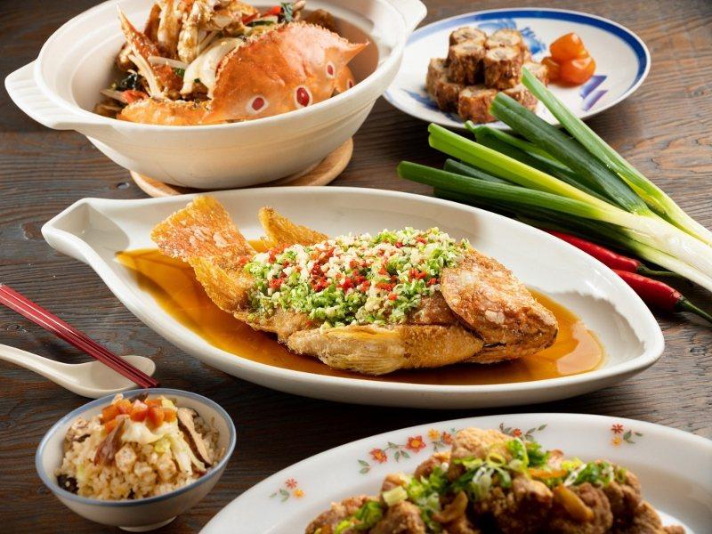 傳統紅燒台灣鯛,醬汁口感酸中有甜、甜中帶酸並帶有一絲微嗆氣息。 君悅/提供