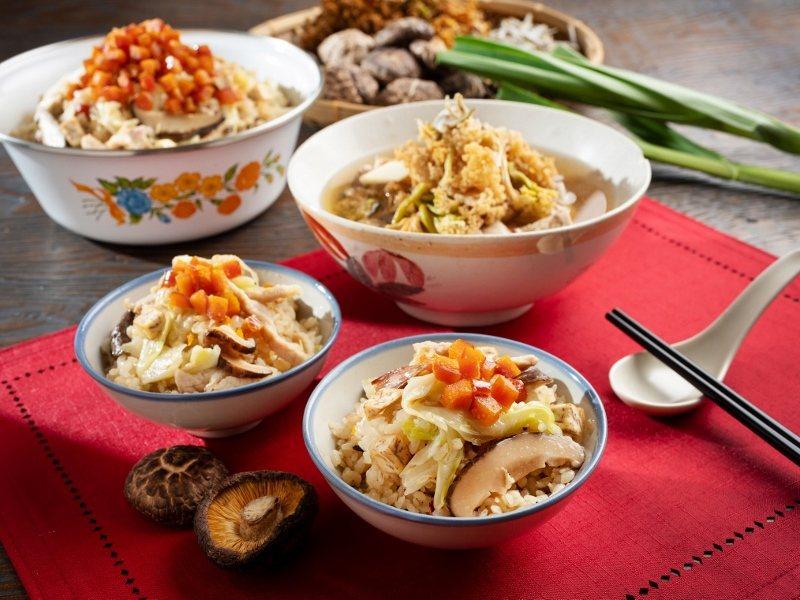 精緻版的高麗菜飯「烏魚子芋頭高麗菜飯」,與呼應秋冬季節的花菜乾排骨湯。 君悅/提...