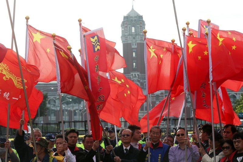 草案要求中共影響台灣境內政治活動的過程要透明化。圖為統促黨。 圖/聯合報系資料照