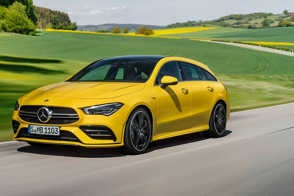 無預警現身的Mercedes-AMG CLA35 Shooting Brake,...