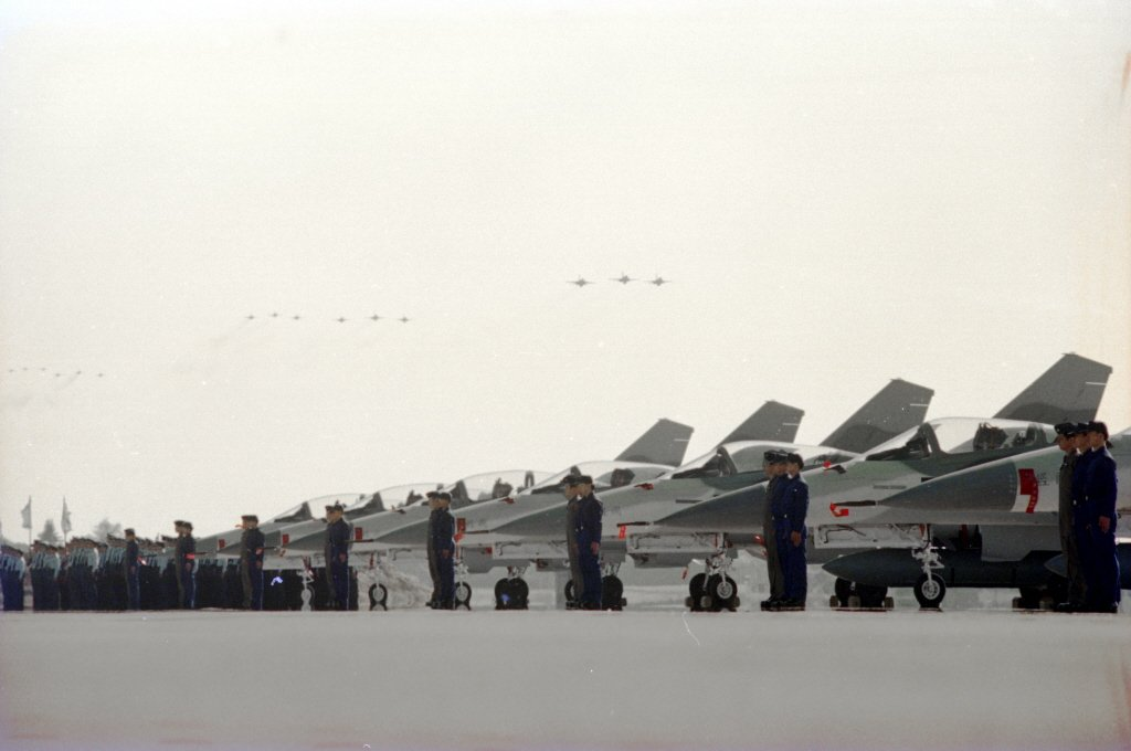 1994年12月,由國人自行研發生產的IDF戰機,正式成軍服役。 圖/聯合報系資料照