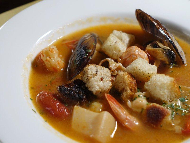 Ristorante Gambrinus海鮮湯。 圖/張芳瑜攝影