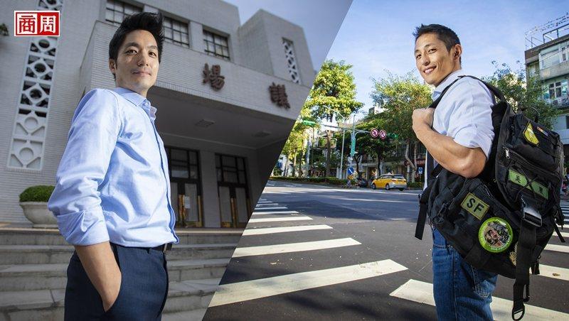 蔣萬安(左)與吳怡農(右)攝影/郭涵羚
