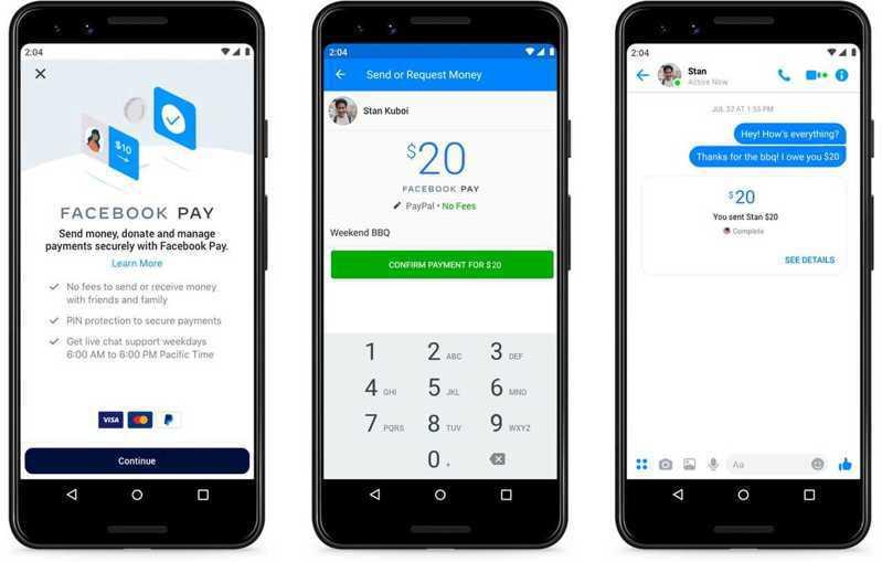 Facebook推出「Facebook Pay」支付服務。(網路圖片/Facebook提供)