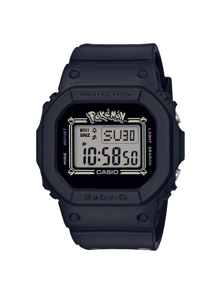Baby-G 25周年紀念皮卡丘聯名BGD-560PKC-1腕表,3,800元。...