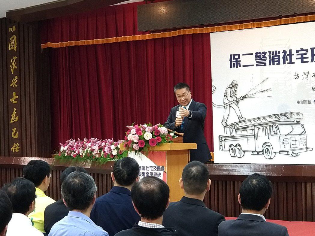 內政部長徐國勇出席中和警消專案社會住宅說明會。記者程士華/攝影