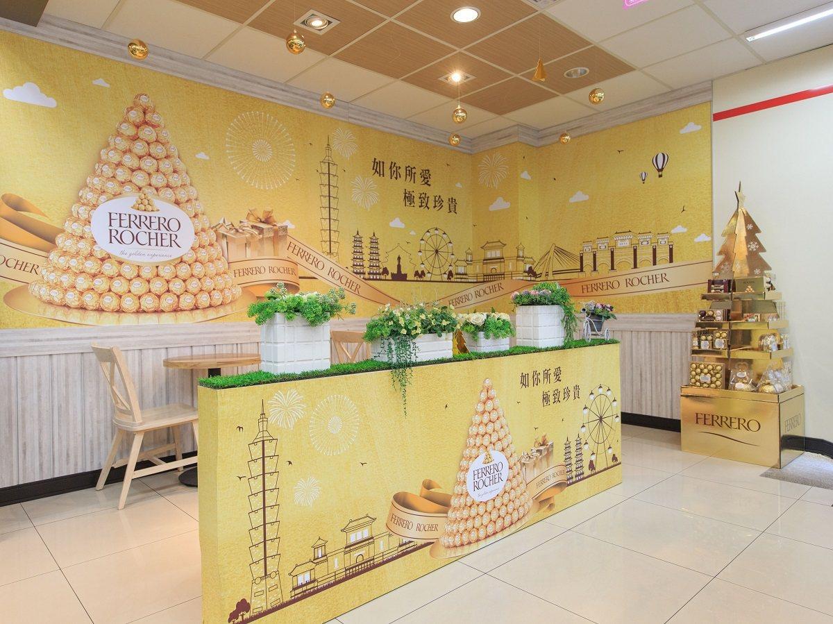 位在台北信義計畫區的7-ELEVEN東暉門市,結合金莎巧克力的精緻浪漫與愛.Sh...