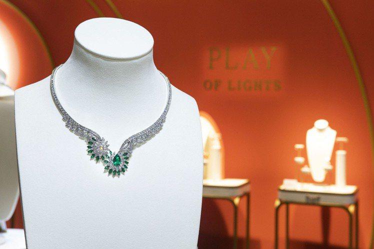 Piaget Golden Oasis「漠地蕾絲」頂級珠寶鑽石項鍊,主石重約3....