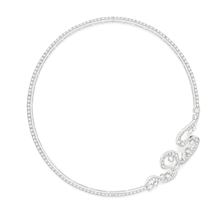 Piaget Golden Oasis「極致魅惑」頂級珠寶鑽石項鍊,18K白金鑲...