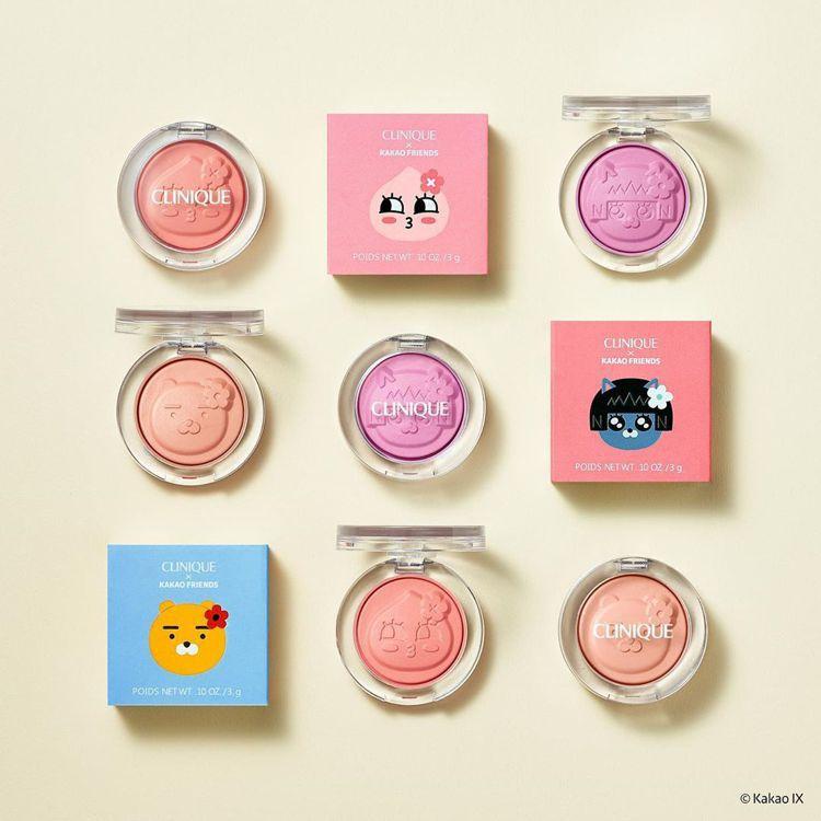 倩碧的小花腮紅與KAKAO FRIENDS推出聯名款。圖/摘自倩碧IG