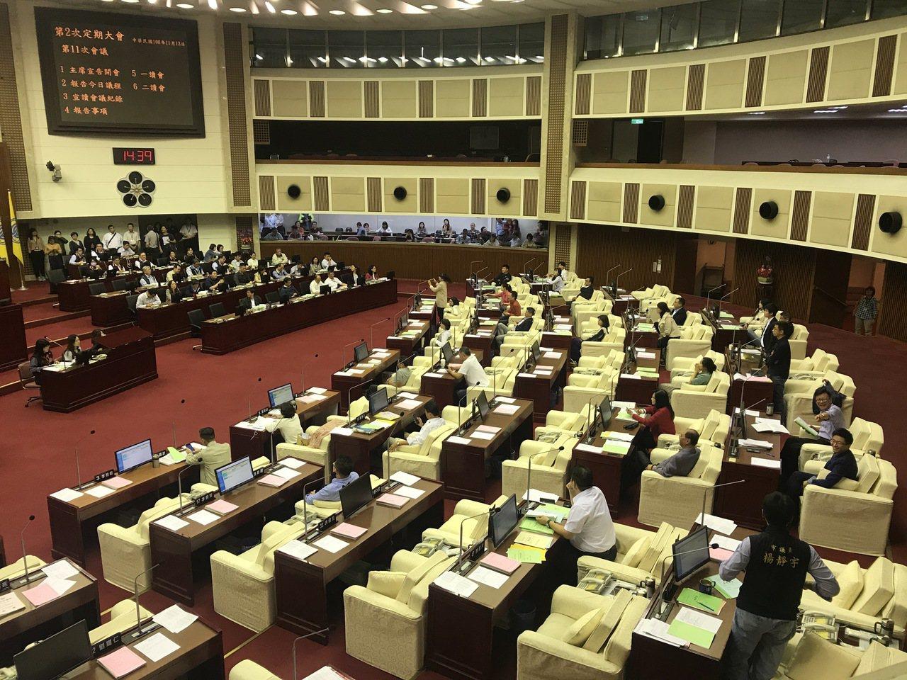 台北市議會下午進行明年度總預算交付審查議程,但國民黨市議員王浩發現,體育局長李再...