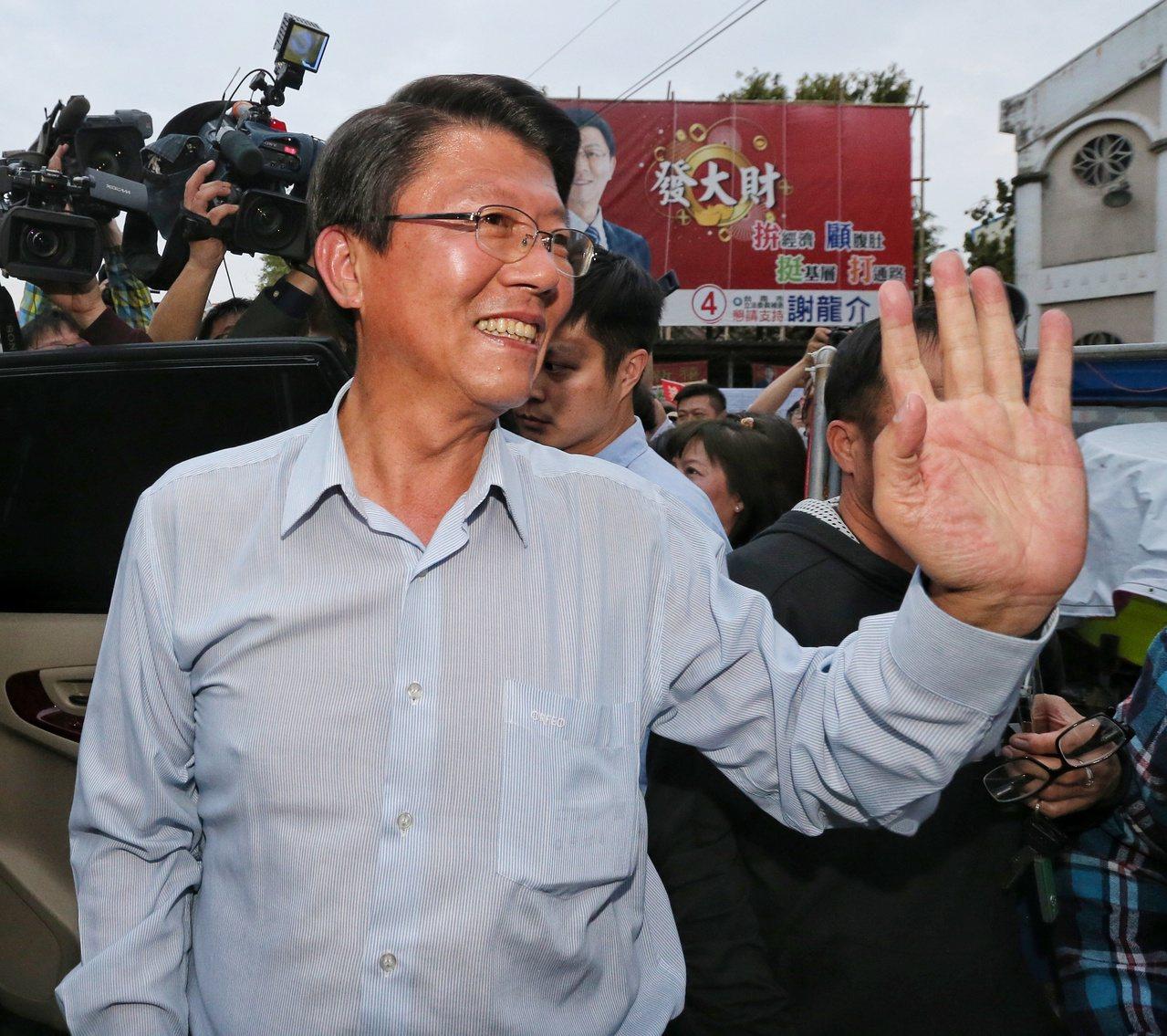 國民黨不分區立委名單中被列為第12名的謝龍介今天表示,對於出這份名單相信黨中央已...