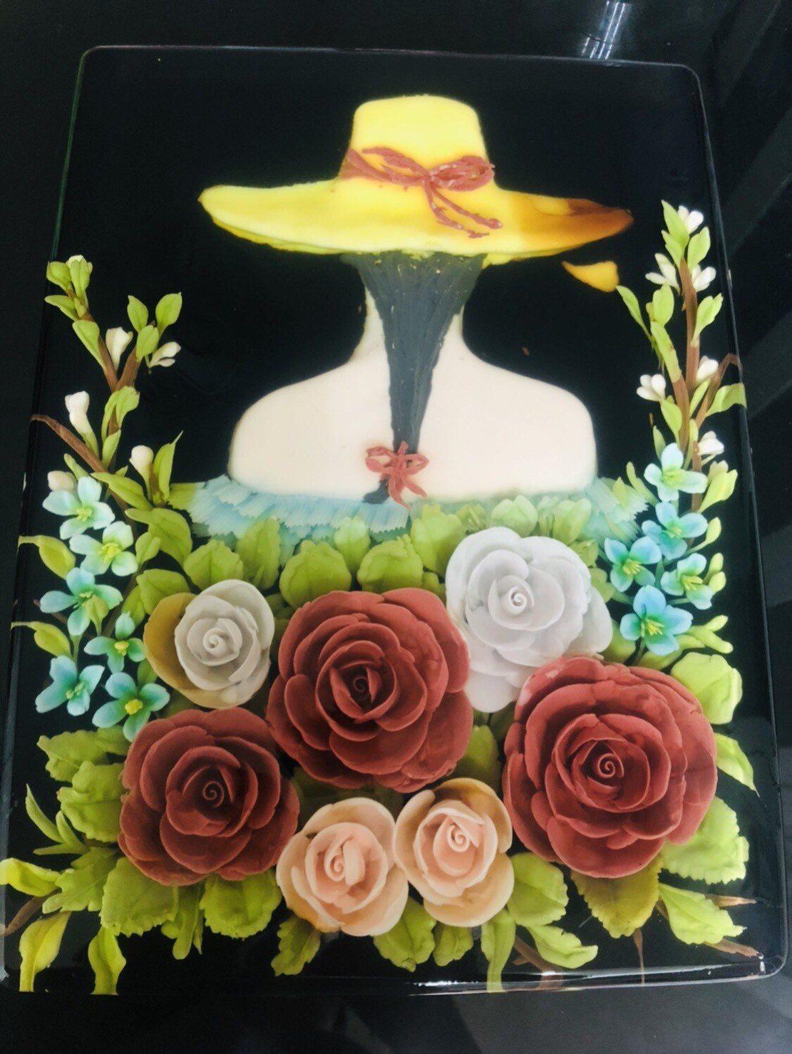 卞柔勻3D果凍花作品,令人驚豔。圖/新北社會局提供