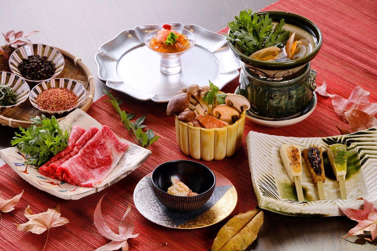 虹夕諾雅谷關將於秋冬推出一系列融合台、日風格的新菜料理。圖/星野集團提供