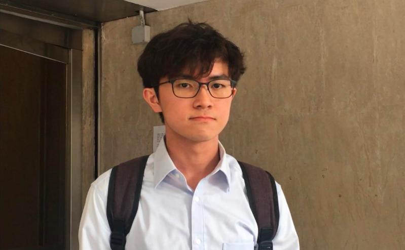 中文大學學生會會長蘇浚鋒。星島網