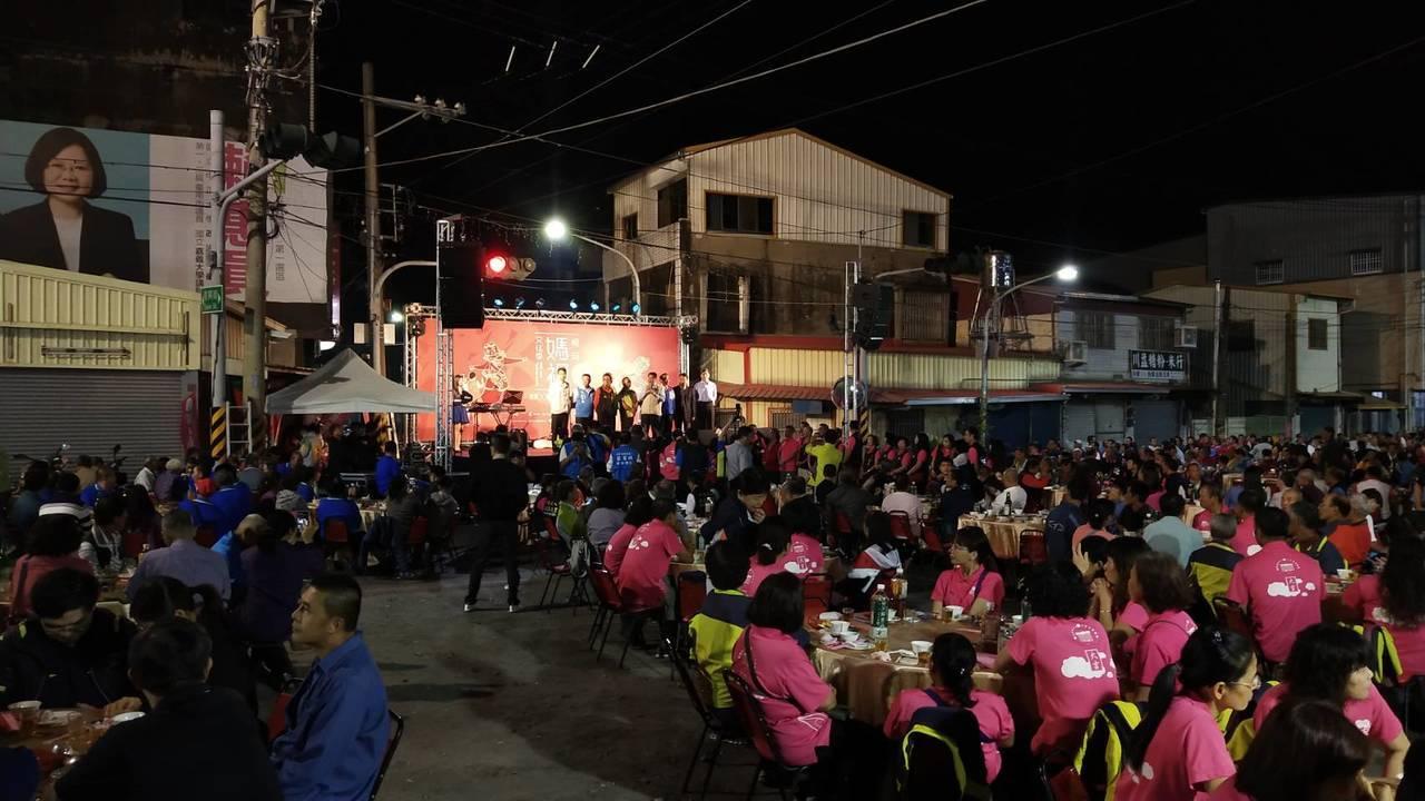 台南六甲恒安媽祖文化季吸引5萬遊客, 晚間席開150桌,圓滿落幕。圖/恒安宮提供